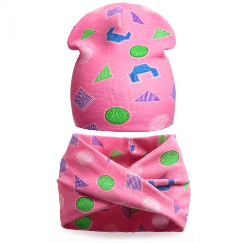 Комплект шапка и шарф для девочки 3-5 лет №SG104